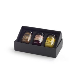 gift box ontbijtcollectie confituur, choco, honing